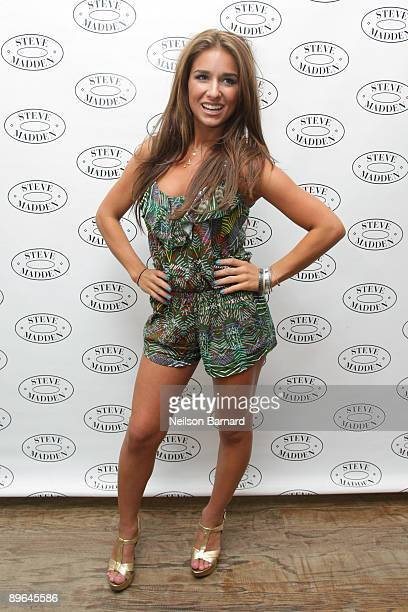 Recording artist Jesse James poses before her performance at Steven by Steve Madden on August 6 2009 in New York City