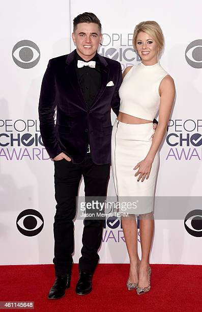 Recording artist Jesse McCartney and actress Katie Peterson attend The 41st Annual People's Choice Awards at Nokia Theatre LA Live on January 7, 2015...