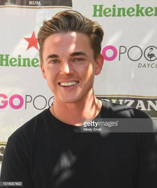 Recording artist Jesse McCartney arrives at The Flamingo Go Pool on August 18 2018 in Las Vegas Nevada
