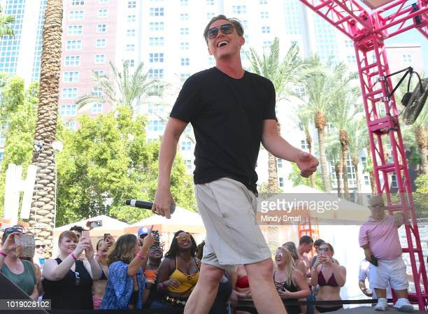 Recording artist Jesse McCartney performs at The Flamingo Go Pool on August 18 2018 in Las Vegas Nevada