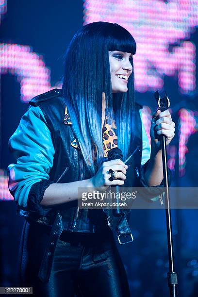 Recording artist Jessie J attends the MTV2 VMA Concert at The Music Box on August 26 2011 in Hollywood California