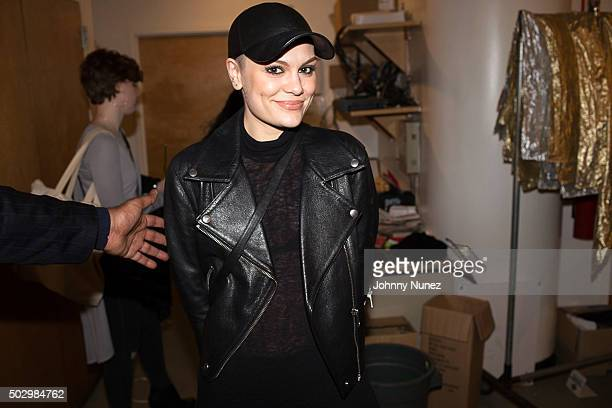 Recording artist Jessie J backstage at S.O.B.'s on December 30 in New York City.