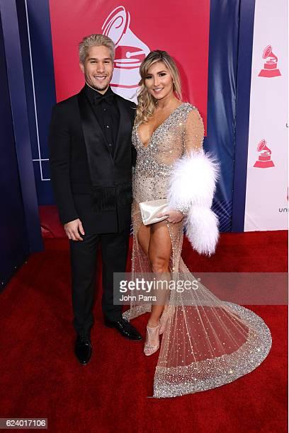 Recording artist Jesus Alberto Miranda Perez and Natasha Araos attend The 17th Annual Latin Grammy Awards at TMobile Arena on November 17 2016 in Las...