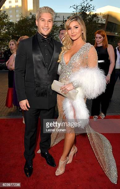 Recording artist Jesus Alberto Miranda Perez and Natasha Araos attends The 17th Annual Latin Grammy Awards at TMobile Arena on November 17 2016 in...