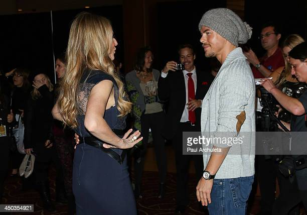 Recording Artist Jewel and TV Personality / Dancer Derek Hough attend The Grove's 11th Annual Christmas Tree Lighting Spectacular at The Grove on...