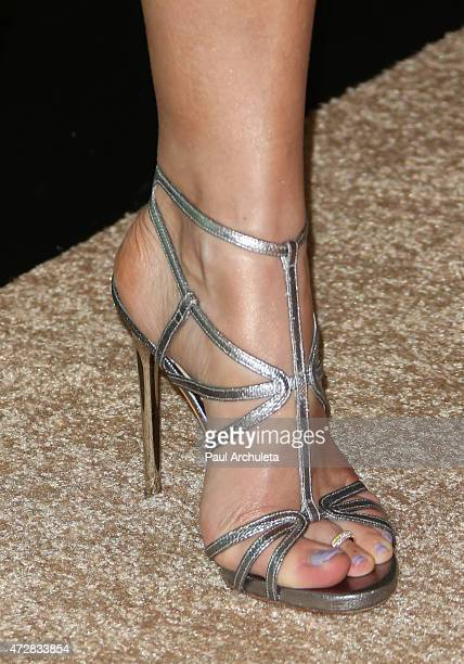 Recording Artist Jewel Shoe Detail attends the Aviva family and Children's Services Center's 100th anniversary gala at The Four Seasons Hotel Los...