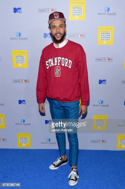 Recording artist Jidenna attends the MTV's 2017 College Signing Day With Michelle Obama at The Public Theater on May 5, 2017 in New York City.