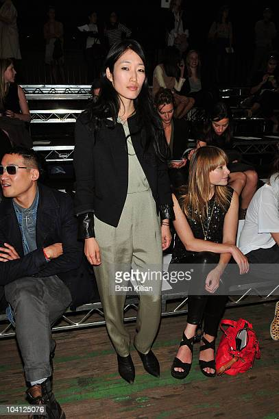 Recording artist Jihae Kim attends the 31 Phillip Lim Spring 2011 fashion show during MercedesBenz Fashion Week at the Park Avenue Armory on...