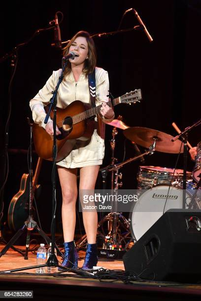 Recording Artist Jillian Jacqueline performs onstage at The Belcourt Theatre on March 16 2017 in Nashville Tennessee