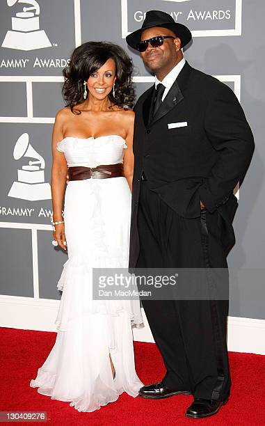 Recording artist Jimmy Jam and wife Lisa Padilla arrive at the 51st Annual GRAMMY Awards held at the Staples Center on February 8 2009 in Los Angeles...