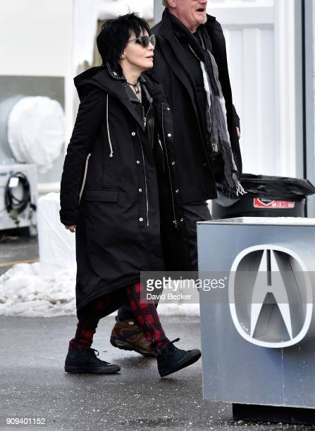 Recording artist Joan Jett attends the 2018 Sundance Film Festival on January 23 2018 in Park City Utah