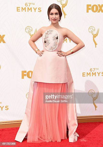 Recording artist Joanna Newsom arrives at the 67th Annual Primetime Emmy Awards at Microsoft Theater on September 20 2015 in Los Angeles California