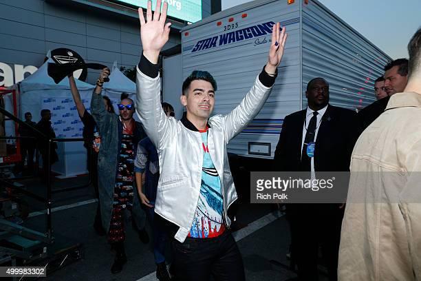 Recording artist Joe Jonas attends 1027 KIIS FM's Jingle Ball Village at KIIS FM's Jingle Ball 2015 Presented by Capital One preshow on December 4...