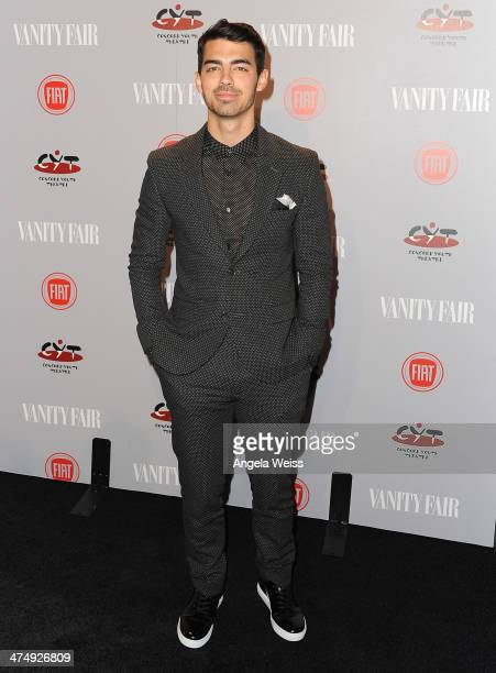 Recording artist Joe Jonas attends the Vanity Fair Campaign Hollywood 'Young Hollywood' party sponsored by Fiat at No Vacancy on February 25 2014 in...