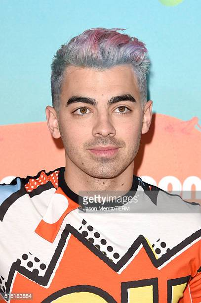 Recording artist Joe Jonas of DNCE attends Nickelodeon's 2016 Kids' Choice Awards at The Forum on March 12 2016 in Inglewood California