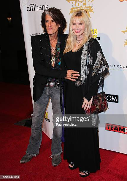 Recording Artist Joe Perry and his Wife Billie Paulette Montgomery attend the 10th Annual Classic Rock Awards: Classic Rock Roll Of Honour Award...