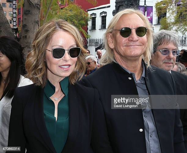 Recording artist Joe Walsh and wife Marjorie Bach attend Jeff Lynne being honored with a Star on the Hollywood Walk of Fame on April 23 2015 in...