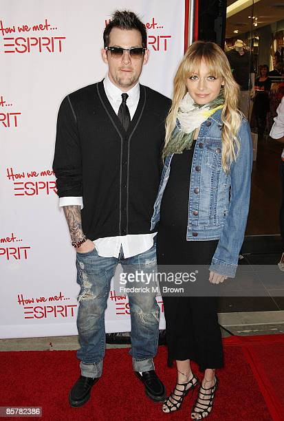 Recording artist Joel Madden and actress Nicole Richie attend the Esprit Grand Opening celebration at the Third Street Promenade on April 2 2009 in...