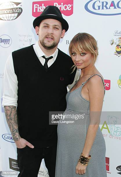 Recording artist Joel Madden and TV personality Nicole Richie attend a press conference to launch the Richie-Madden Children's Foundation at the Los...