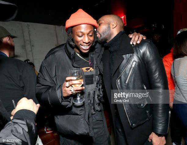 Recording artist Joey Badass attends the Heron Preston Tequila Avion Dance Party in Celebration Of Heron Preston 'Public Figure' at Public Arts on...