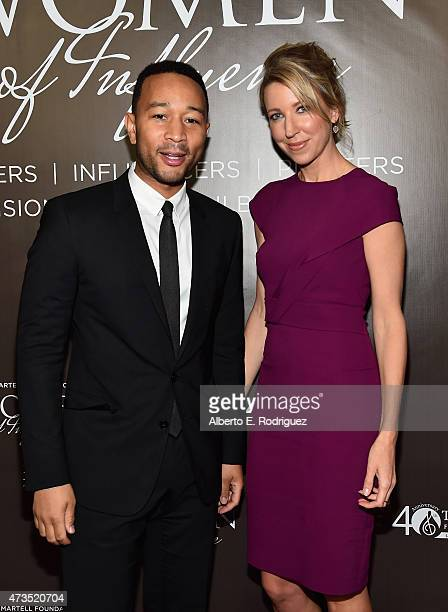 Recording artist John Legend and CoPresident Atom Factory Ty Stiklorius attend the TJ Martell Foundation's Women Of Influence Los Angeles Event at...