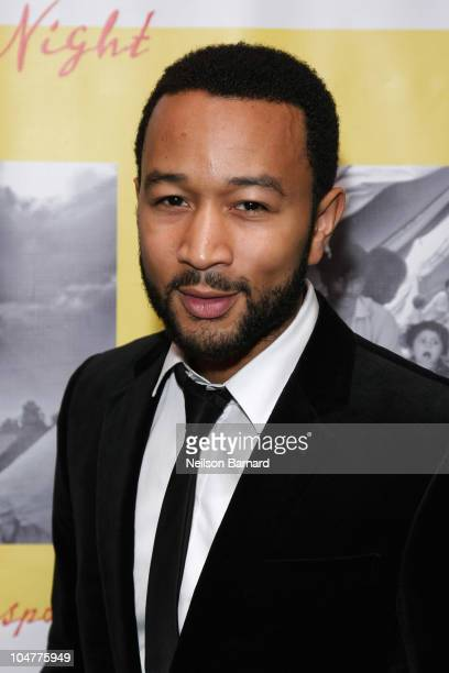 Recording artist John Legend attends 'A Lifeline in the Night A Benefit for Pakistan Flood Relief' at the Boom Boom Room on October 4 2010 in New...