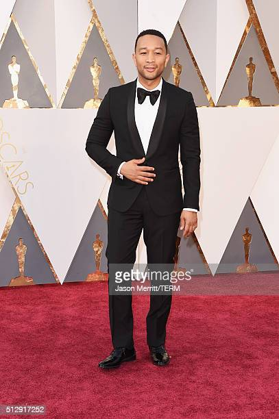 Recording artist John Legend attends the 88th Annual Academy Awards at Hollywood Highland Center on February 28 2016 in Hollywood California