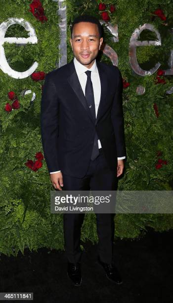 Recording artist John Legend attends the Nielsen Host PreGrammy Celebration at Herringbone Mondrian LA on January 25 2014 in Beverly Hills California