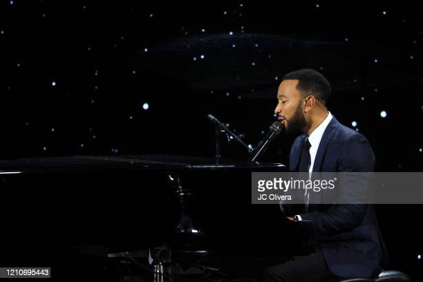 Recording artist John Legend performs onstage during The Alliance For Children's Rights 28th Annual Dinner Honoring Karey Burke And Susan Saltz at...