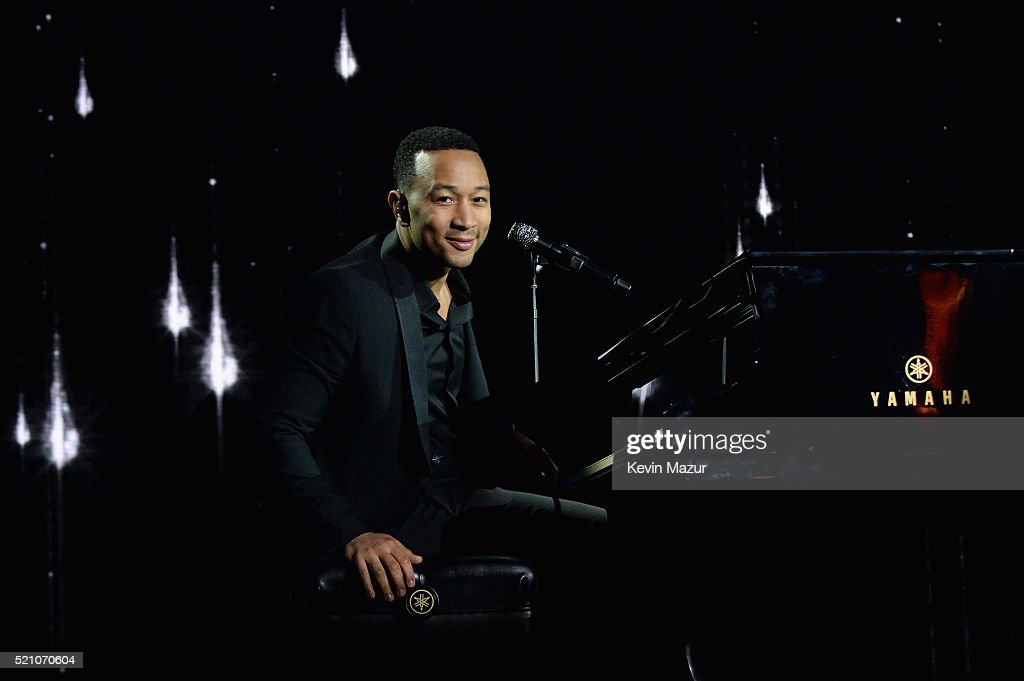 Recording artist John Legend performs onstage during the launch of the Parker Institute for Cancer Immunotherapy, an unprecedented collaboration between the country's leading immunologists and cancer centers on April 13, 2016 in Los Angeles, California.