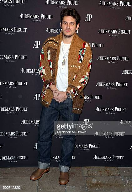 Recording artist John Mayer attends Audemars Piquet Celebrates Grand Opening of Rodeo Drive Boutique on December 9 2015 in Beverly Hills California