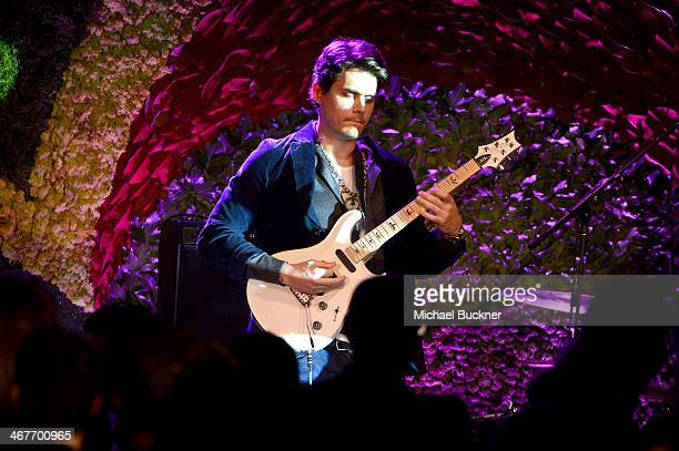Recording artist John Mayer performs onstage during Hollywood Stands Up To Cancer Event with contributors American Cancer Society and Bristol Myers...