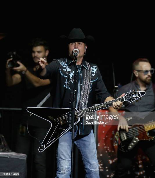 Recording artist John Rich of Big Rich performs during 'Vegas Strong A Night of Healing' at the Orleans Arena on October 19 2017 in Las Vegas Nevada...