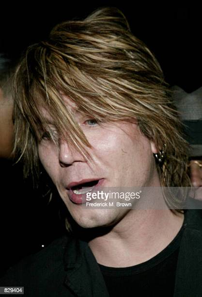 Recording artist Johnny Resnick of the group Goo Goo Dolls attends the Be In The Know preGrammy Party February 26 2002 in Los Angeles CA The party...