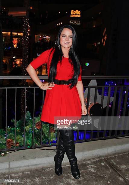 Recording Artist JoJo arruves at her popup concert at the Hollywood Highland Courtyard on December 17 2011 in Hollywood California