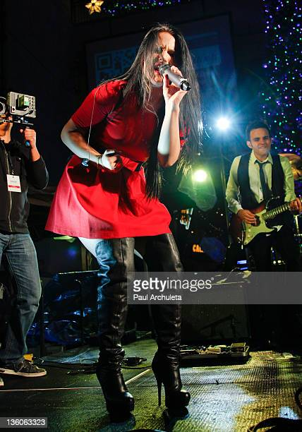 Recording Artist JoJo performs a popup concert at the Hollywood Highland Courtyard on December 17 2011 in Hollywood California