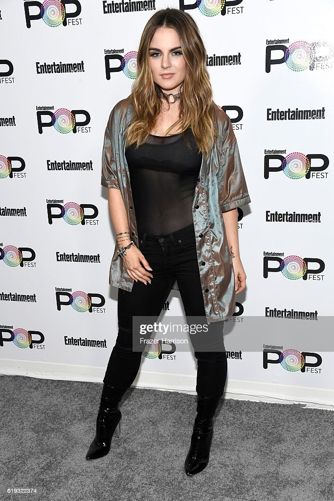 Recording artist JoJo poses backstage during Entertainment Weekly's PopFest at The Reef on October 30, 2016 in Los Angeles, California.