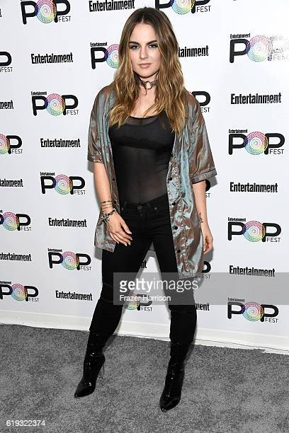 Recording artist JoJo poses backstage during Entertainment Weekly's PopFest at The Reef on October 30 2016 in Los Angeles California