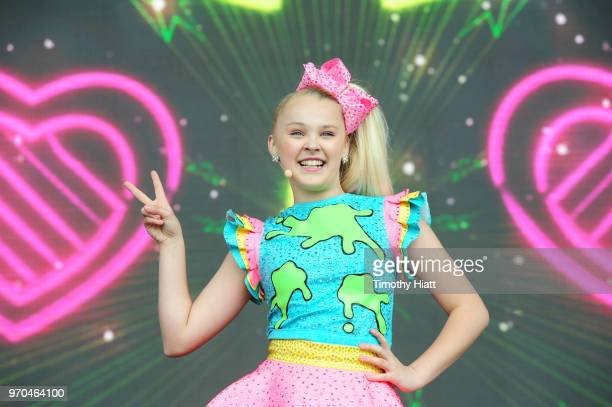 Recording Artist Jojo Siwa performs on stage during Nickelodeon SlimeFest at Huntington Bank Pavilion at Northerly Island on June 9 2018 in Chicago...