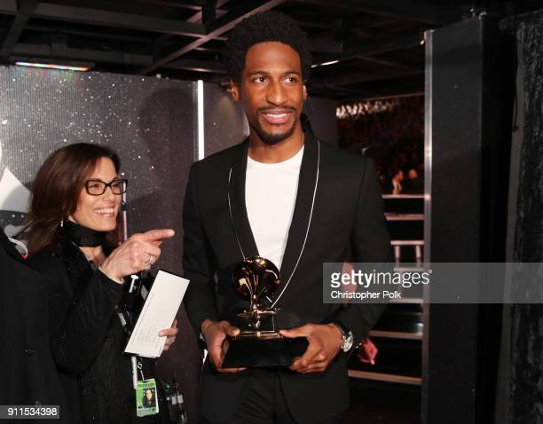 Recording artist Jon Batiste attends the 60th Annual GRAMMY Awards at Madison Square Garden on January 28 2018 in New York City