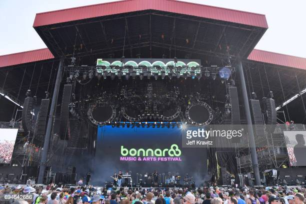 Recording artist Jon Bellion performs onstage at What Stage during Day 3 of the 2017 Bonnaroo Arts And Music Festival on June 10, 2017 in Manchester,...