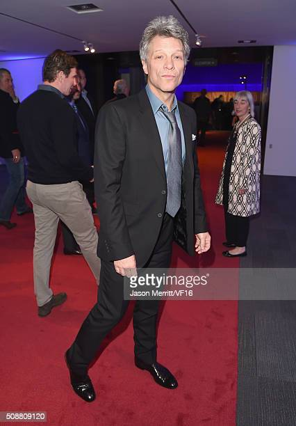 Recording artist Jon Bon Jovi attends the Vanity Fair Super Bowl Party hosted by Graydon Carter Jon Bon Jovi Honors Super Bowl 50 Host Committee 50...