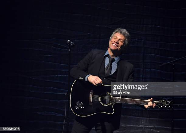 Recording artist Jon Bon Jovi performs during the 21st annual Keep Memory Alive 'Power of Love Gala' benefit for the Cleveland Clinic Lou Ruvo Center...