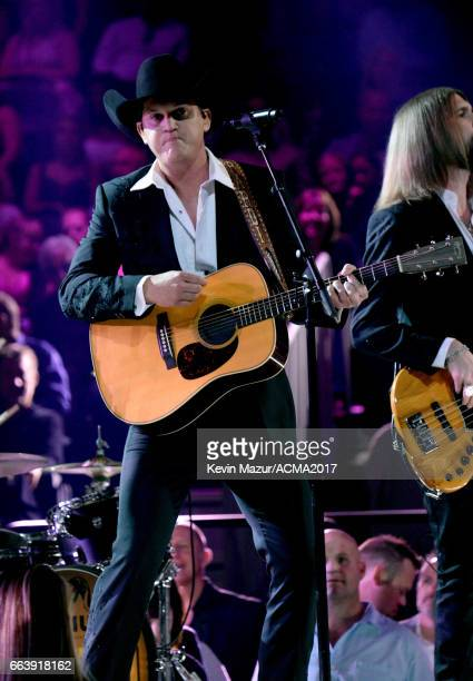 Recording artist Jon Pardi performs onstage during the 52nd Academy of Country Music Awards at TMobile Arena on April 2 2017 in Las Vegas Nevada