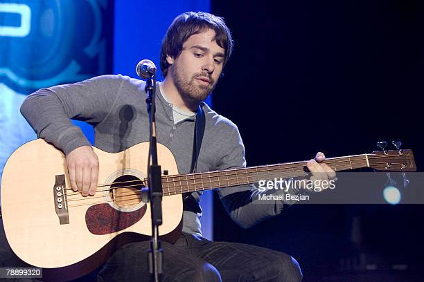 Recording artist Jon Walker of Panic at the Disco performs at the Honda Civic Center on January 10 2008 in Torrance California