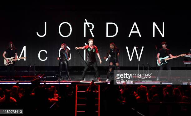 Recording artist Jordan McGraw performs as he opens for Jonas Brothers during a stop of the group's Happiness Begins Tour at MGM Grand Garden Arena...
