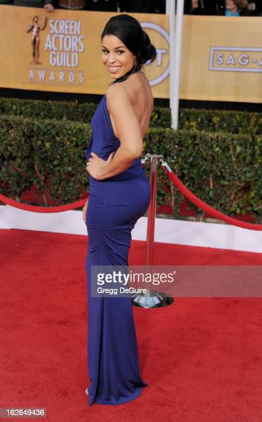 Recording artist Jordin Sparks arrives at the 19th Annual Screen Actors Guild Awards at The Shrine Auditorium on January 27 2013 in Los Angeles...