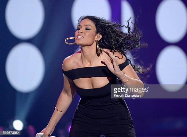 Recording artist Jordin Sparks performs onstage during FOX's 'American Idol' Finale For The Farewell Season at Dolby Theatre on April 7 2016 in...