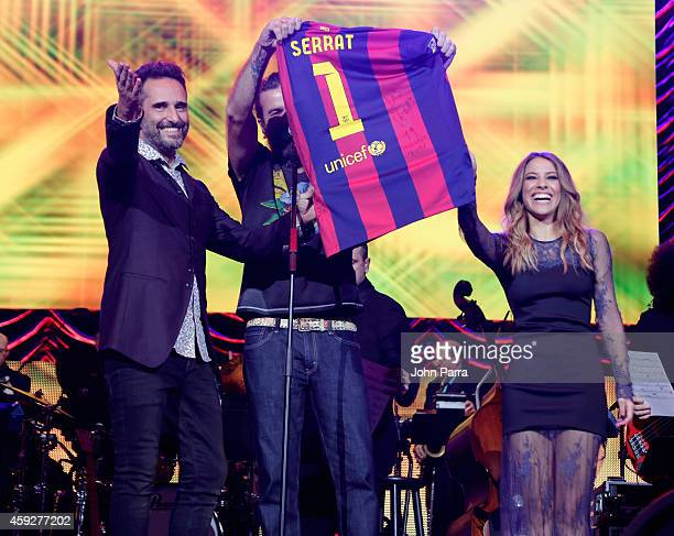 Recording artist Jorge Drexler Singer Pau Dones of Jarabe de Palo and recording artist Debi Nova perform onstage during the 2014 Person of the Year...
