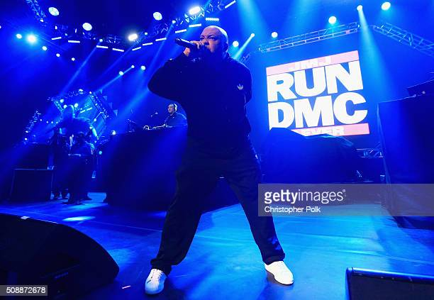 Recording artist Joseph Simmons of Run–DMC performs onstage during DirecTV Super Saturday Night cohosted by Mark Cuban's AXS TV at Pier 70 on...